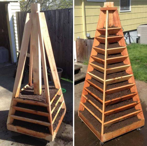 Чертежи пирамиды для клубники своими руками