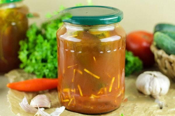 Огурцы с кетчупом чили на зиму — рецепты