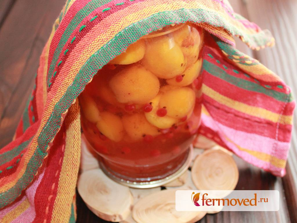 Компот из смородины и абрикосов на зиму - 10 пошаговых фото в рецепте