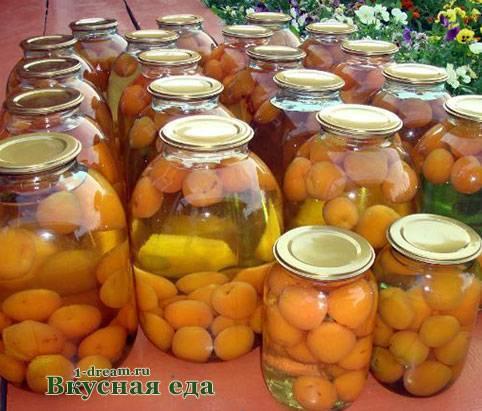 Компот из черешни с абрикосами на зиму