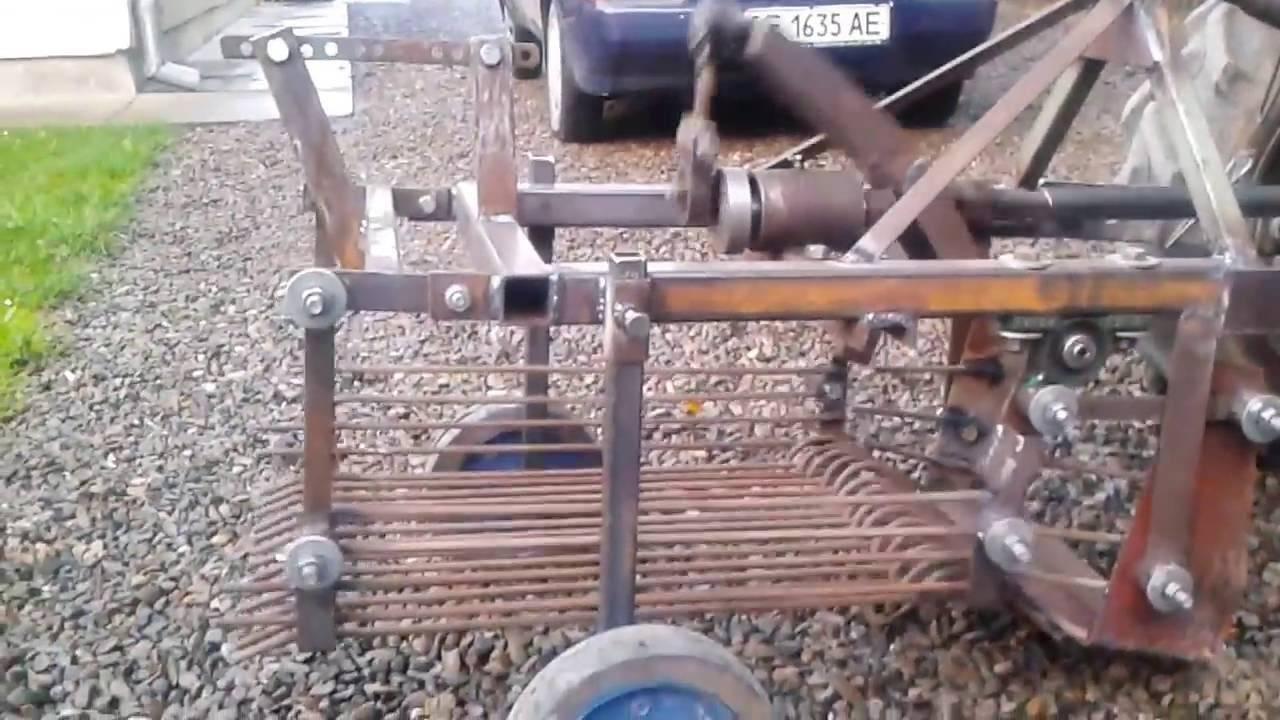 Самодельная картофелекопалка для трактора. картофелекопалка грохотного типа своими руками. этапы изготовления. оборудование с транспортером