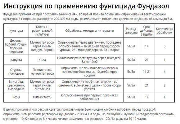 """""""фундазол"""": инструкция по применению, состав, эффективность - sadovnikam.ru"""