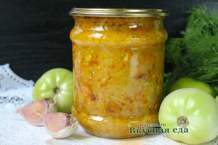 Икра из зеленых помидор на зиму: необходимые ингредиенты и инвентарь, рецепт приготовления овощной икры