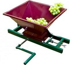 Дробилка для винограда: с гребнеотделителем, электрическая, своими руками, чертеж