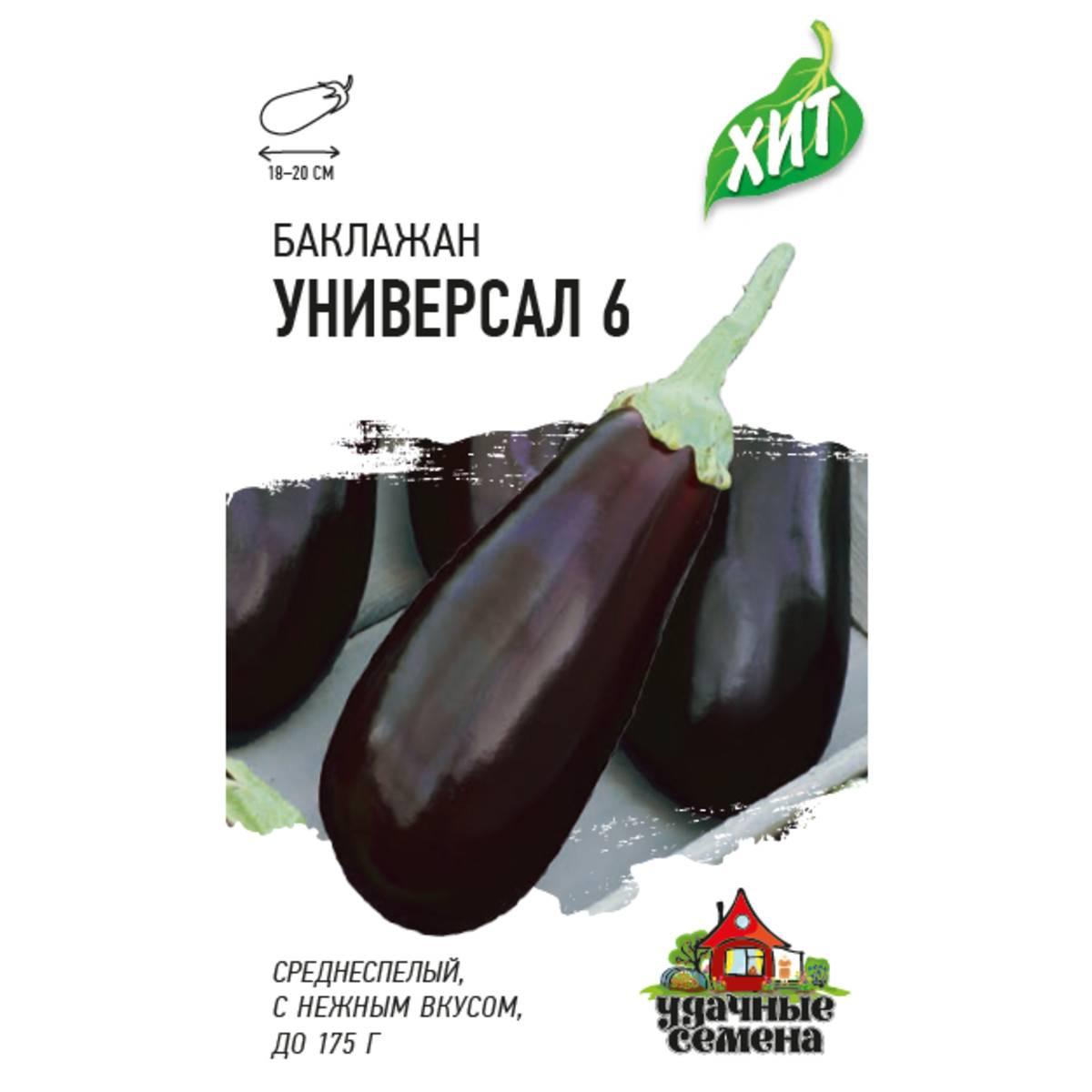 Особенности выращивания баклажана универсал 6