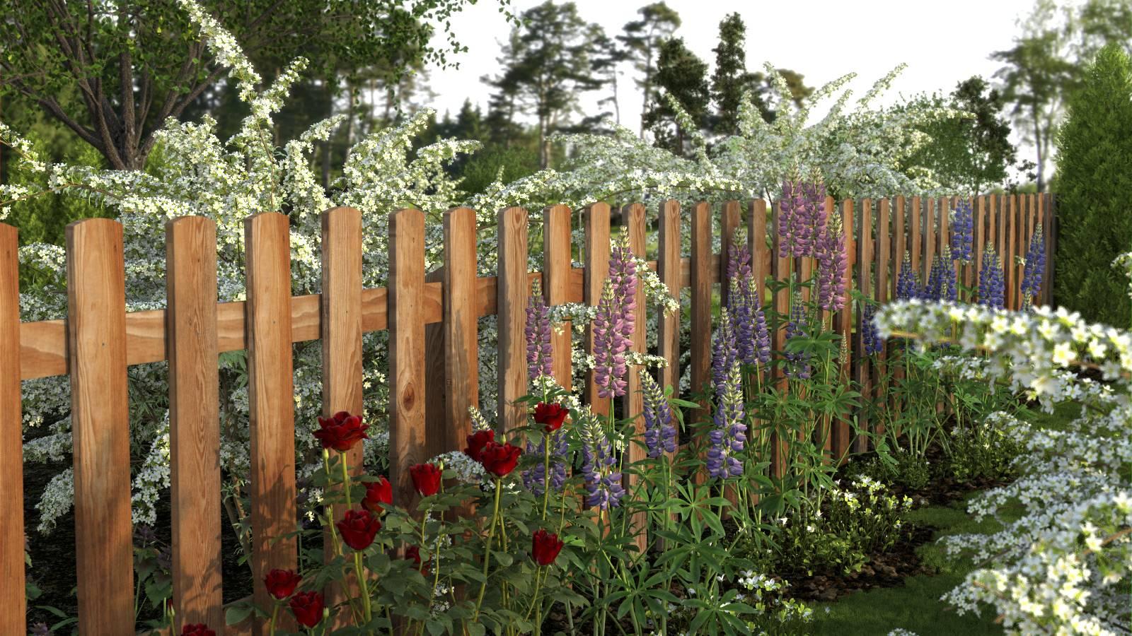 Забор для палисадника – этапы возведения, 19 фото с примерами и этапами работ