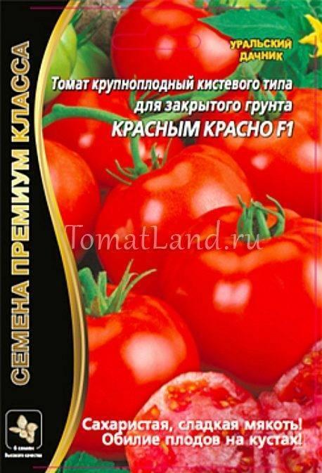 Томат «Красным красно»: правила ухода, особенности выращивания