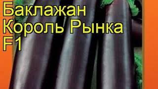 Описание баклажана король рынка - агро журнал pole39.ru