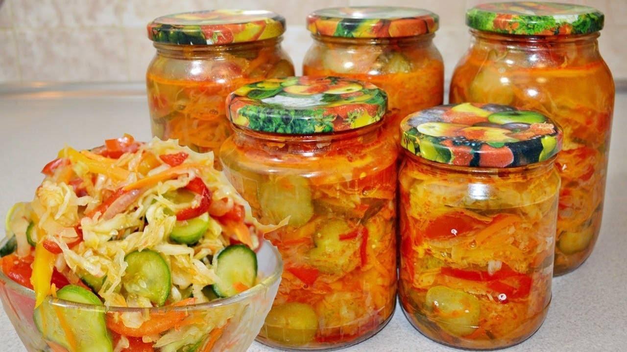 Салат из огурцов и помидоров на зиму пальчики оближешь без стерилизации и со стерилизацией, рецепты салатов с огурцами и помидорами