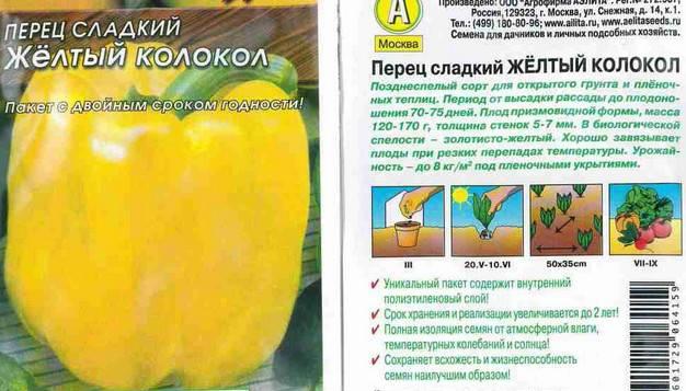Сорта желтого перца