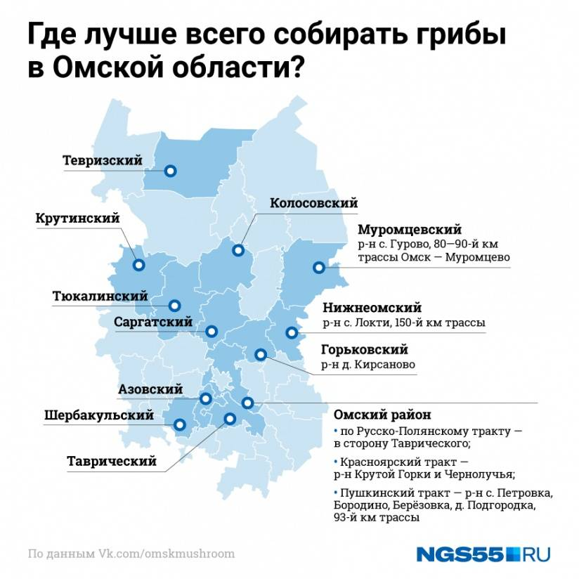 Грибные места россии и снг