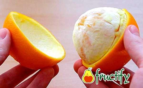 Как почистить апельсин быстро и без брызг