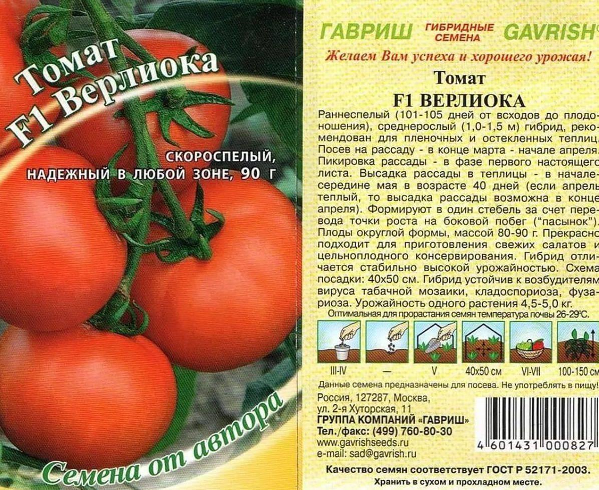 Томат верлиока: 105 фото, характеристики и особенностей выращивания помидор
