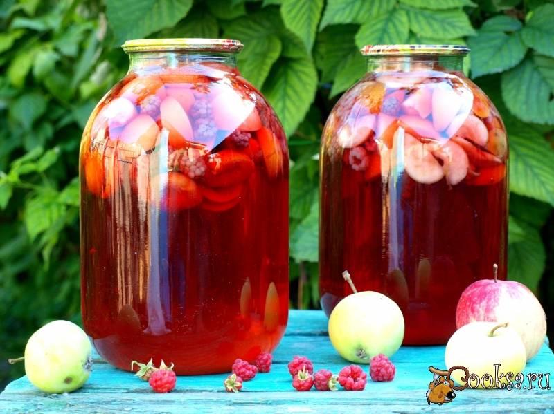 Компот из яблок и абрикосов на зиму: 4 лучших пошаговых рецепта, условия хранения