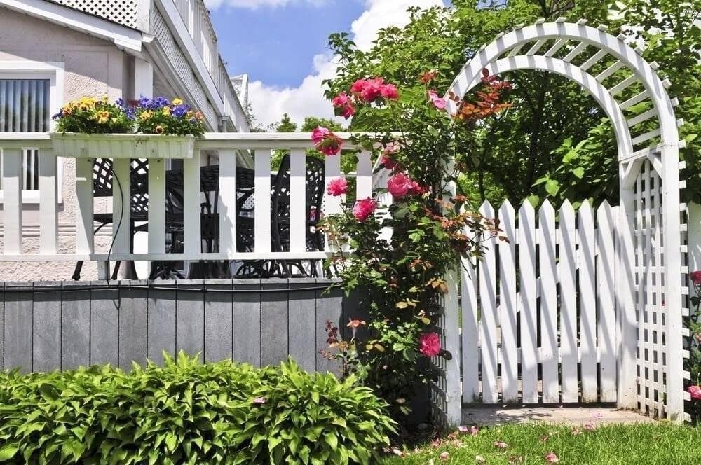 Забор для палисадника – как сделать просто