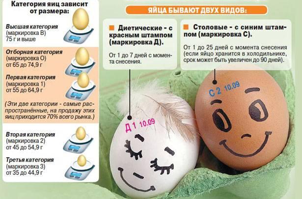 Сколько граммов весит одно куриное яйцо и расшифровка маркировок
