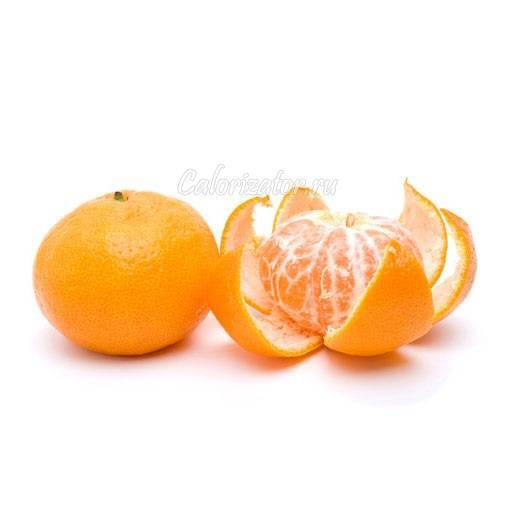 Сколько ккал в мандарине: в 1 шт среднего размера, на 100 грамм, без кожуры и со шкуркой
