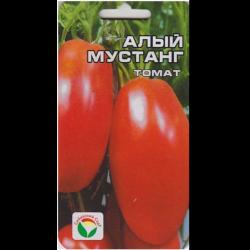 Романтическое название томатов «алый мустанг» берёт от запоминающейся формы