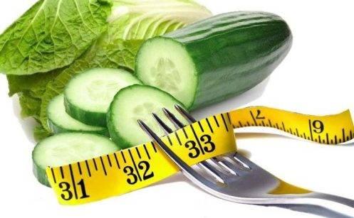Сколько калорий в огурце одном. огурец