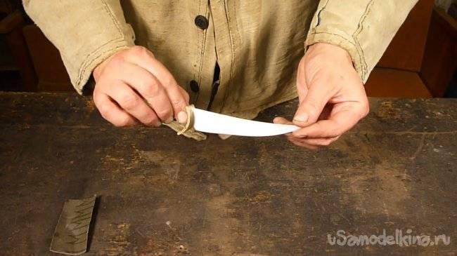 Нож грибника: своими руками