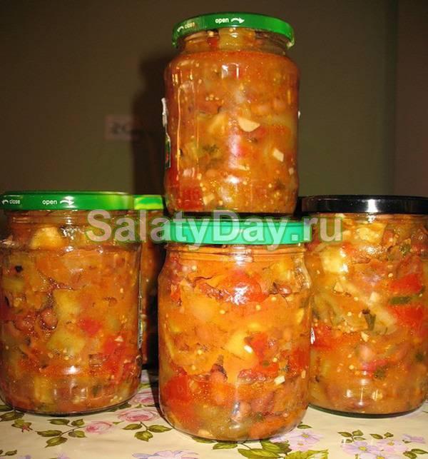 Салат бакат из баклажанов на зиму: рецепт с фото