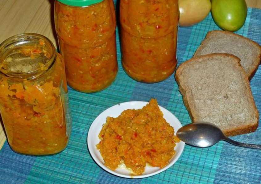 Простые рецепты заготовки икры из зеленых помидоров на зиму