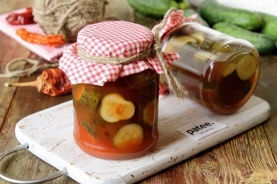 Огурцы с кетчупом чили на зиму в литровых банках: рецепт с фото