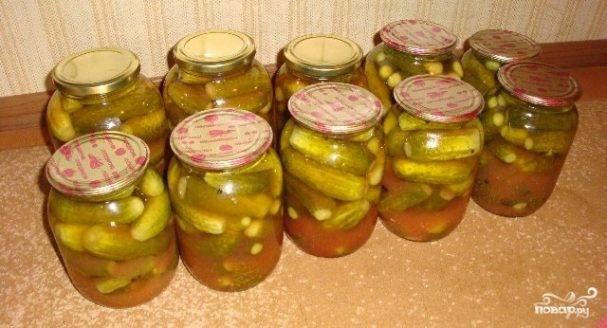 Огурцы маринованные с кетчупом чили на зиму в литровых банках - рецепты