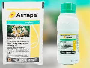 Инсектицид «Актара»: инструкция по применению для разных растений