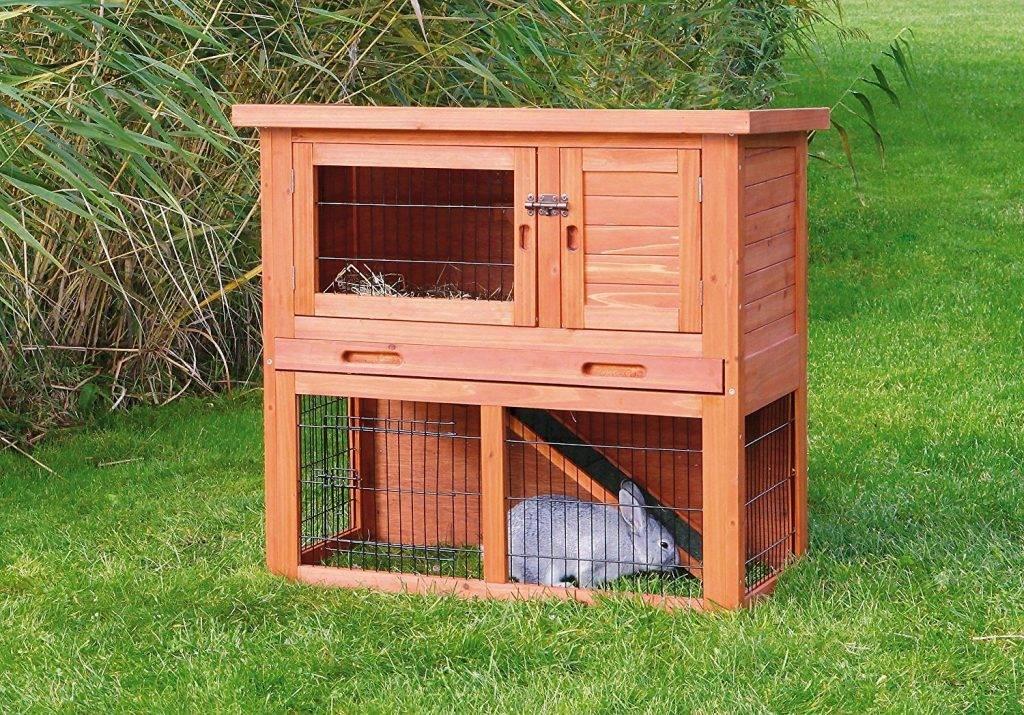 Домики для кролика (39 фото): особенности клеток для декоративных кроликов, деревянные и пластиковые кроличьи домики