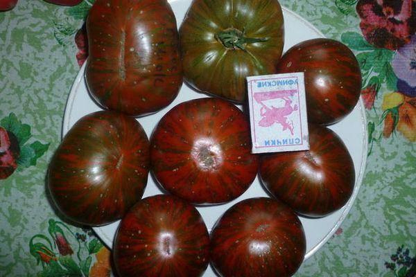 Описание томата Полосатый Шоколад