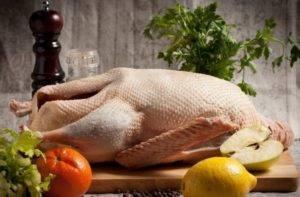 Утка домашняя, мясо и кожа, сырые: калорийность на 100 грамм — 404 ккал