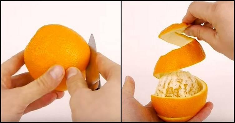Как почистить апельсин от кожуры быстро и правильно: видео