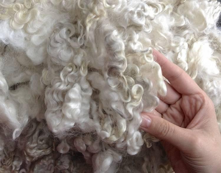 Как почистить белую овчину