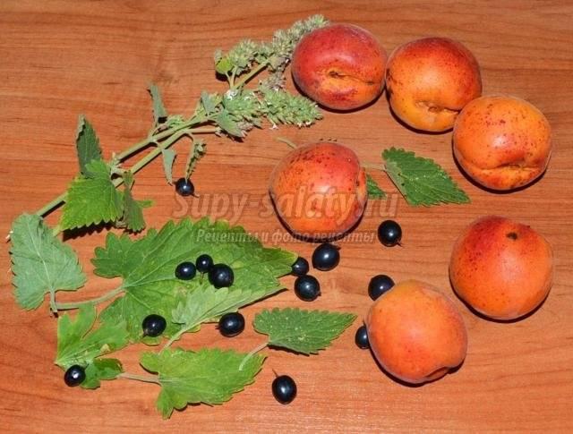 Компот из абрикосов: пошаговый рецепт приготовления