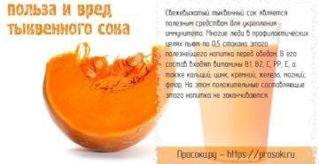 Тыквенный сок: польза и вред, противопоказания, применение в народной медицине, рецепты