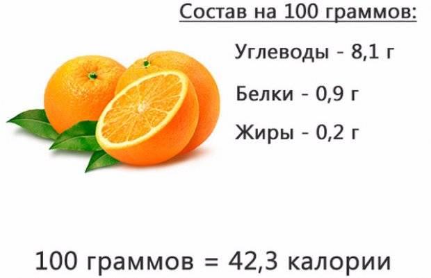Апельсины — химический состав, пищевая ценность, бжу