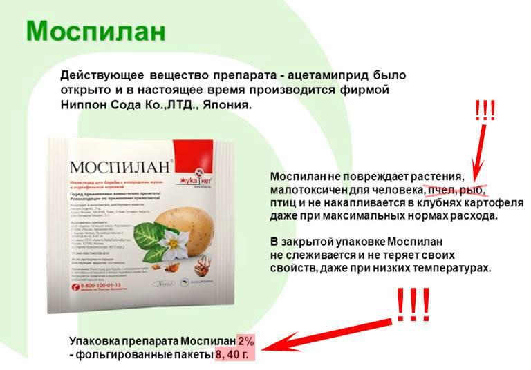 Моспилан (ацетамиприд): свойства, инструкция по применению