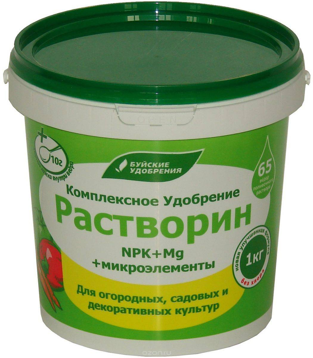 "Удобрение ""растворин"". состав, применение препарата"