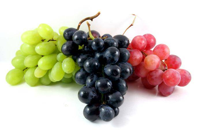 Калорийность красного винограда: калорийность на 100 грамм с косточками, без косточки, крупного