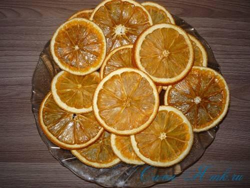 Сушеные апельсины для еды