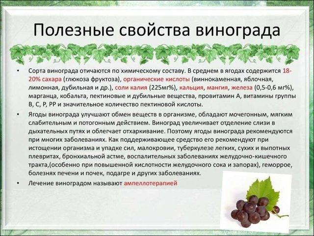 Калорийность винограда кишмиш зеленого, черного
