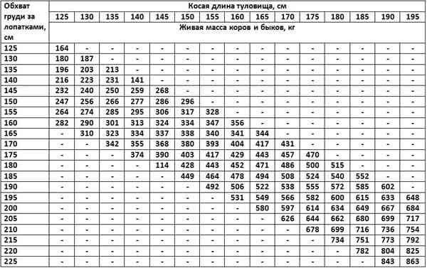 Вес коров в разном возрасте   coagro :: комман