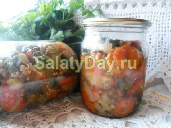 Салат из баклажан на зиму — 12 рецептов