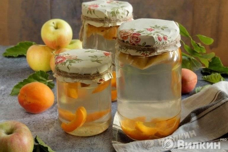 Компот из яблок и абрикосов на зиму: простой рецепт приготовления, как сварить