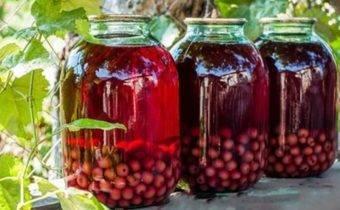 Приготовление компота из вишни и абрикосов