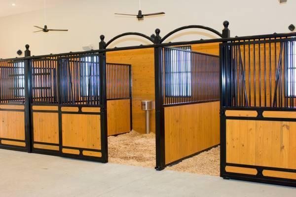 Конюшня для лошадей (34 фото): варианты с загоном. какой нужен поводок? содержание и уход за конями