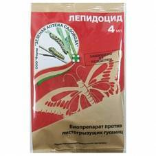 «лепидоцид» биопрепарат от гусениц - инструкция по применению
