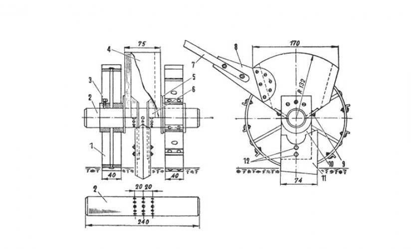✅ сеялка для чеснока к мотоблоку - схема конструкции - байтрактор.рф