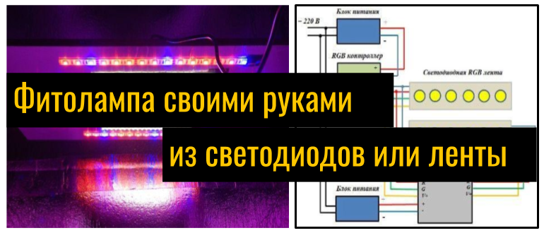 Фитолампы своими руками: как сделать светильники для растений из светодиодов? мастер-класс по изготовлению светодиодных ламп. особенности установки подсветки